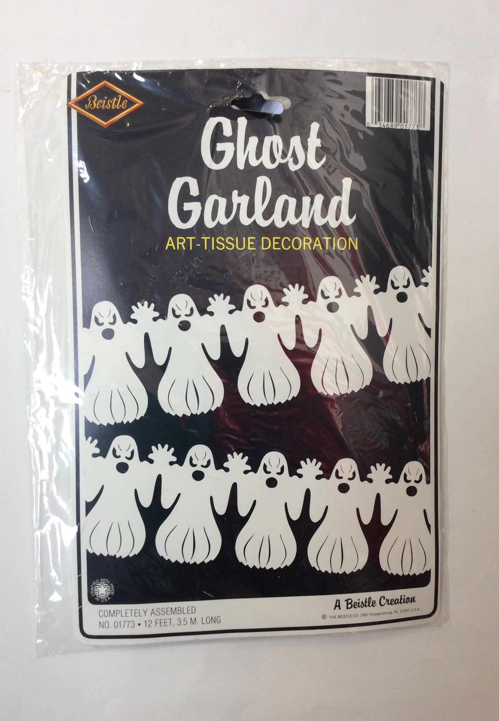 White Tissue Ghost Garland Party Warehouse Outlet